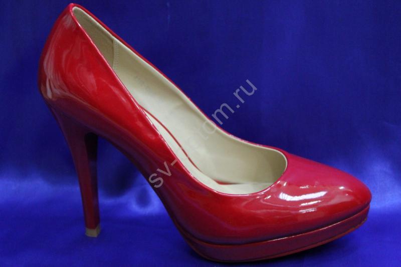Туфли С-29 красные р.36-41 ВСЕ РАЗМЕРЫ
