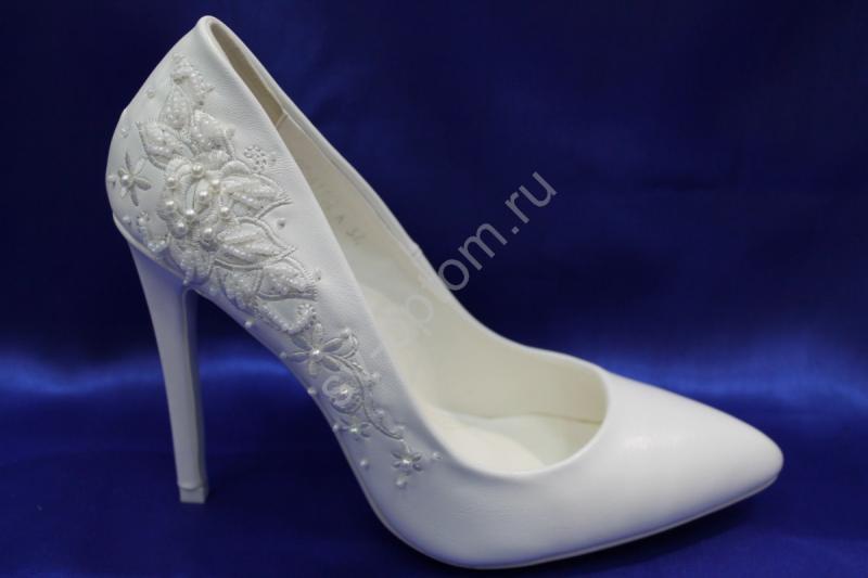 Туфли С-3 Цвет: Белый р.36-41 ВСЕ РАЗМЕРЫ