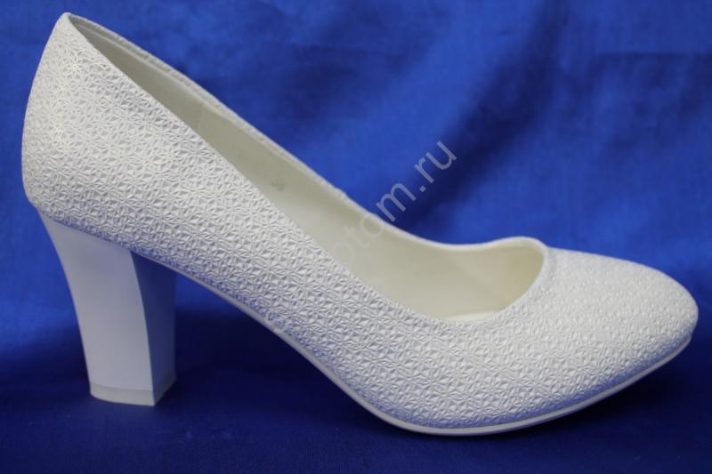 Туфли С-64 Цвет: Белый р.36-41 ВСЕ РАЗМЕРЫ