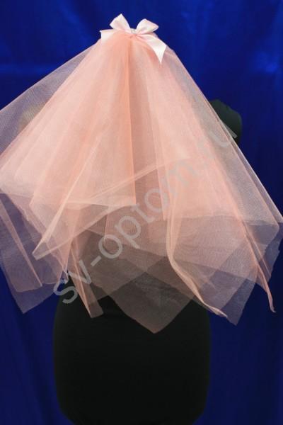 Фата для девичника бледно-розовая арт.076-004