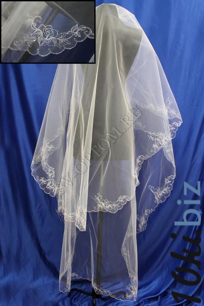 Фата. машинная вышивка с стразами 3х1.5м Цвет: Темный айвари арт. 027-288 Фата свадебная в Москве