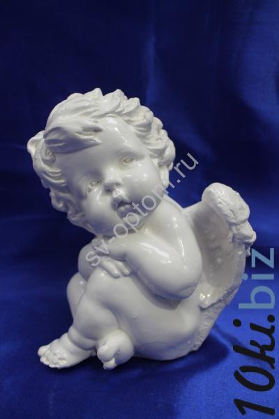 """Фигурка """"Задумчивый ангел"""" 25х23см. арт. 041-008 Фигурки, статуэтки в России"""