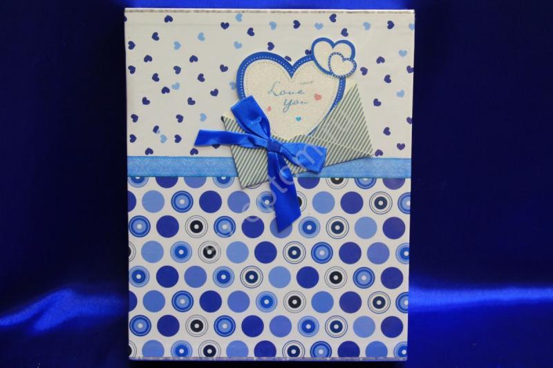 Фотоальбом бело-синий (22,5х28,5см) арт. 069-020