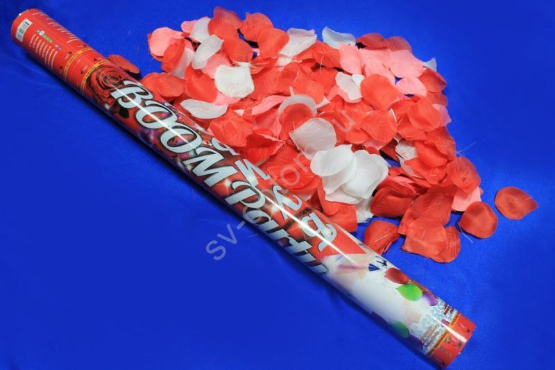 Хлопушка (наполнитель лепестки роз красные, белые и розовые) 60см СД арт. 077-018