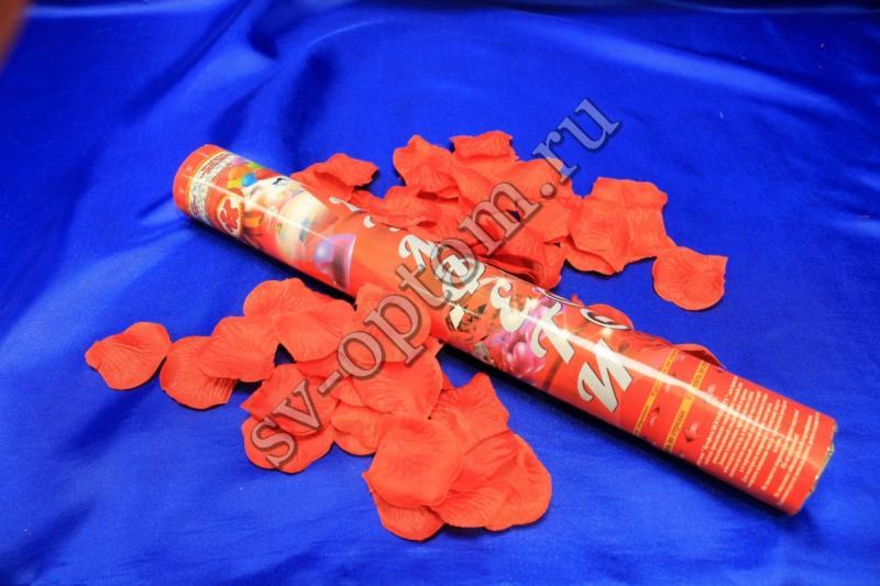 Хлопушка (наполнитель лепестки роз красные) 40см арт. 077-009