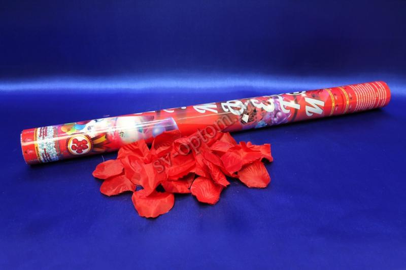 Хлопушка (наполнитель лепестки роз: красные) 60см СД арт.  077-004