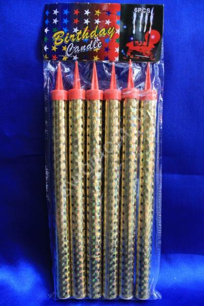 Холодные фонтаны в торт высота 20 см (1 упаковка). Цвет: золотой арт. 052-004