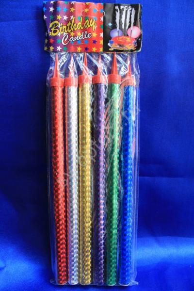 Холодные фонтаны в торт высота 25 см (1 упаковка). Разноцветные арт. 052-007