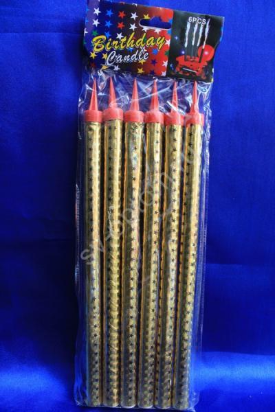 Холодные фонтаны в торт высота 25 см (1 упаковка). Цвет: золотой арт. 052-006