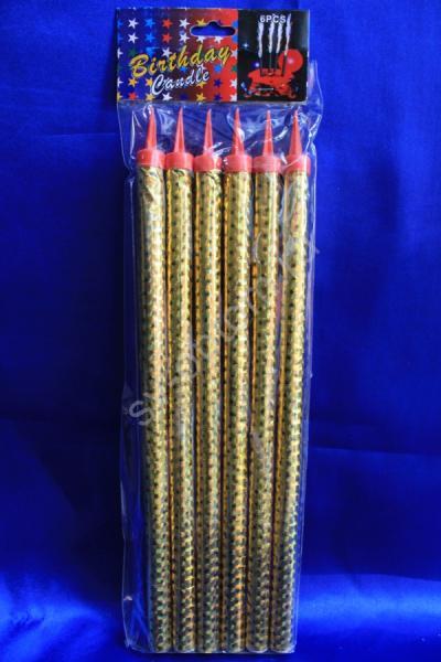 Холодные фонтаны в торт высота 30 см (1 упаковка). Цвет: золотой арт. 052-008