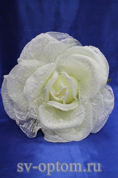 Цветок айвори с белым (250 мм) арт. 138-159