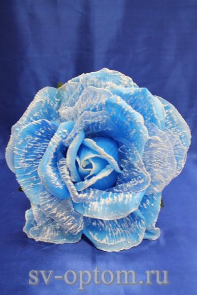 Цветок голубой с белым (250 мм) арт. 138-160