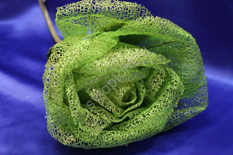 Цветок из сетки зеленый (200 мм) арт. 138-169