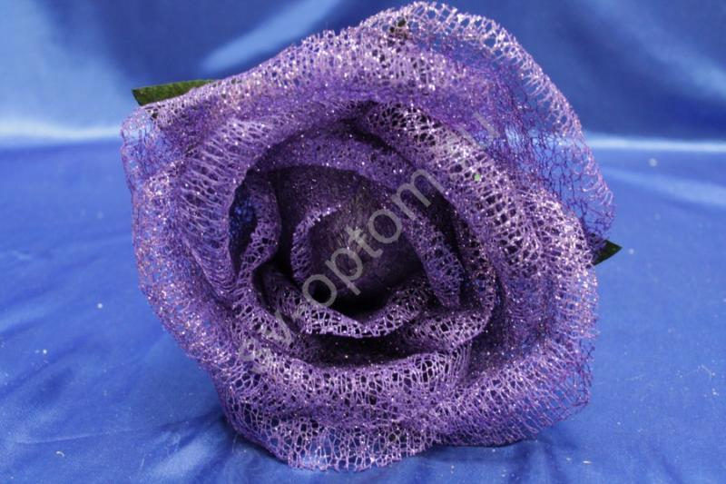 Цветок из сетки фиолетовый (200 мм) арт. 138-171