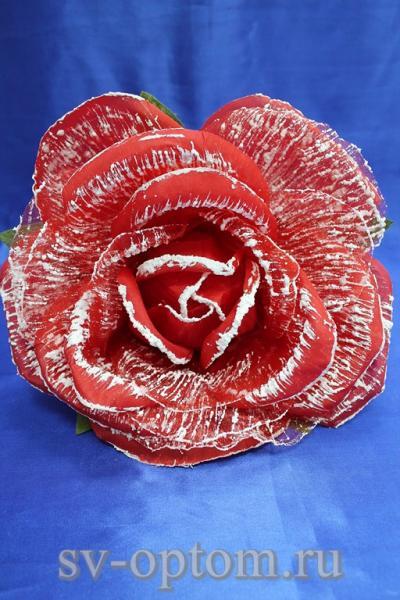 Цветок Красный с белым (250 мм) арт. 138-158