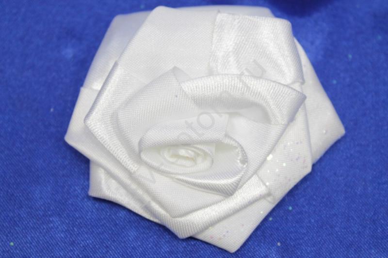 Цветы атласные белые 70мм (цена за 1шт) арт. 138-178