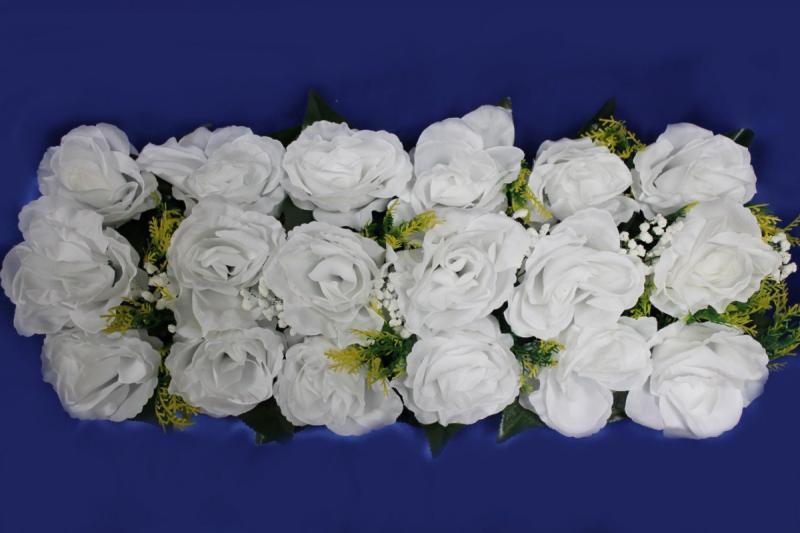 Цветы для изготовления арок (белые розы) 20х45см арт. 094-101