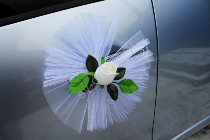 """Цветы на ручки и зеркала """"Айвори букетные розы"""" в уп. 4штучки арт. 124-012"""