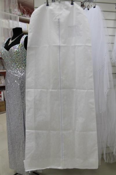 Чехол для платья белый с расширением (170*60)с окошком арт. 038-002