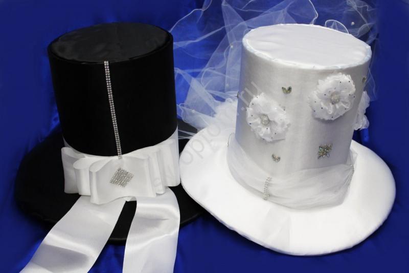 Шляпы №47 Цвет: Черный и Белый (цена за 2шт)
