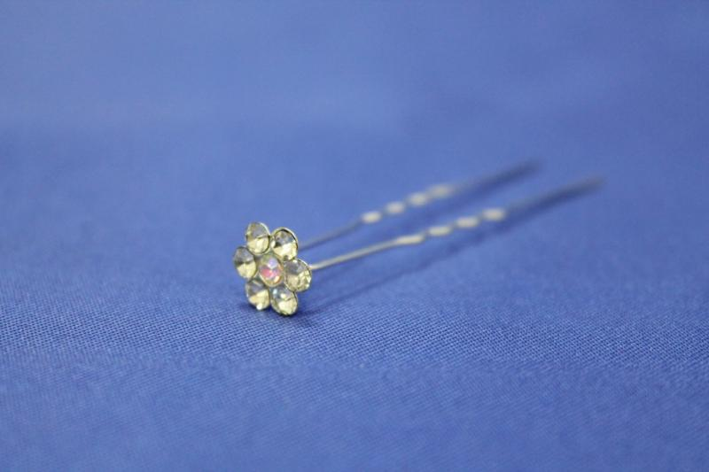 Шпилька ромашка мелкий камень (в уп. 20 шт) 033-304