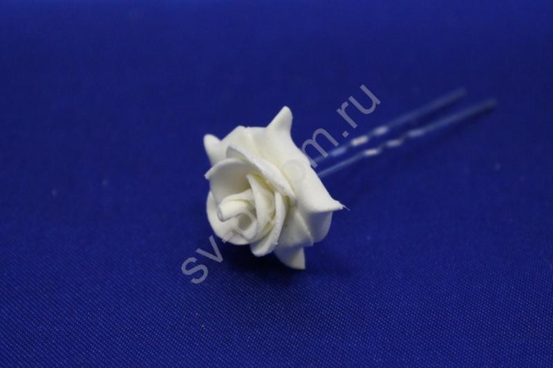 Шпилька с  розой айвори (цена за уп. 10шт) арт. 033-300