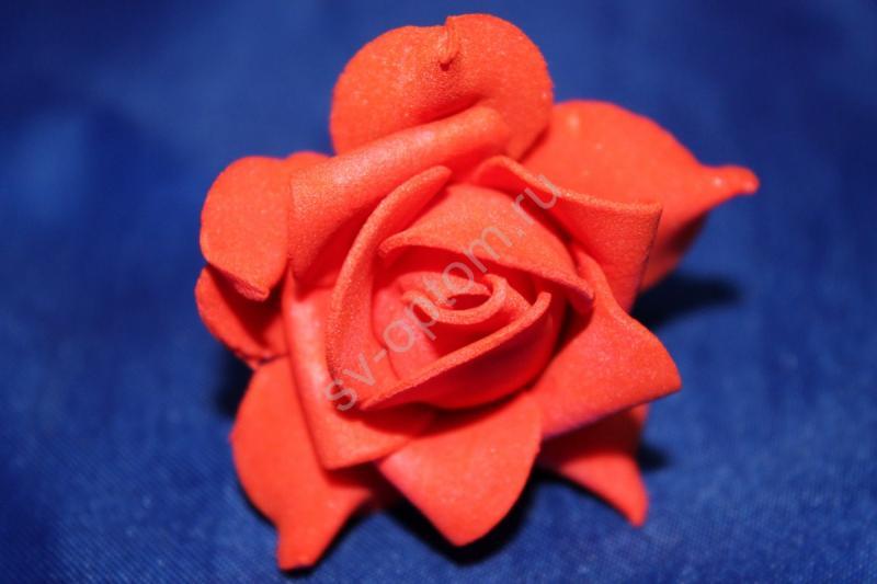 Шпилька с красной латексной розой диаметр 40мм (цена за уп. 20шт) Поштучно 35р/шт арт. 033-292