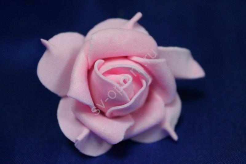 Шпилька с розовой латексной розой диаметр 40мм (цена за уп. 20шт) Поштучно 35р/шт арт. 033-29