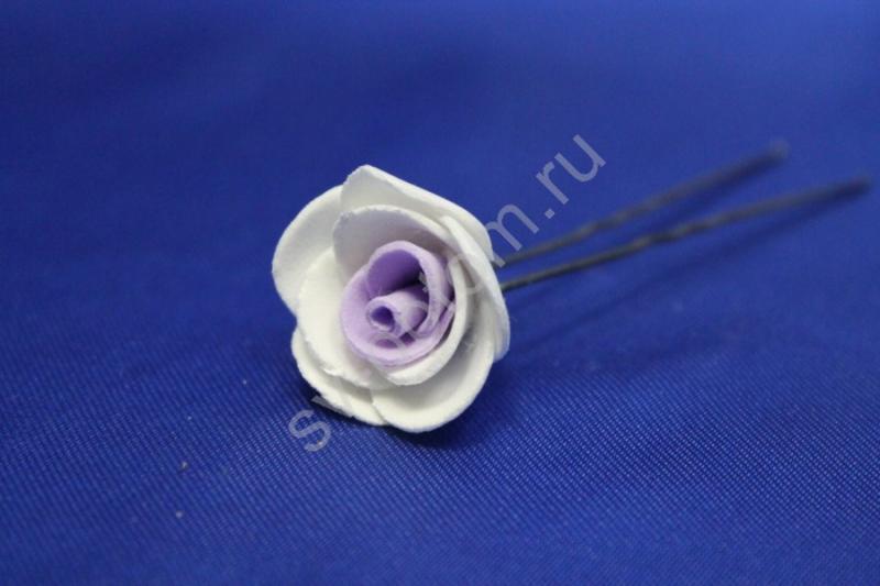 Шпилька с фиолетовой розой (цена за уп. 10шт) арт. 033-301