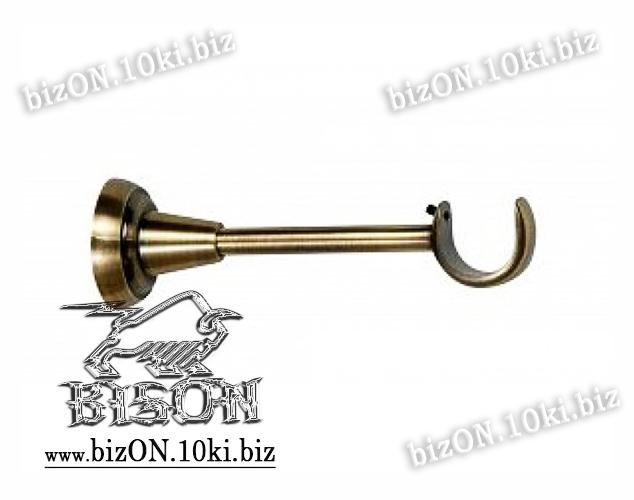 Фото Карнизы Металлические Ø 25 мм, Трубы и Кронштейны Ø 25 мм Антико   Кронштейн Одинарный Открытый    для трубы d= 25мм