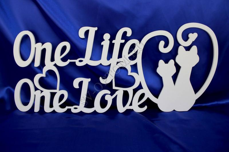 """One Life One Love"" 30х65 арт. 004-077"