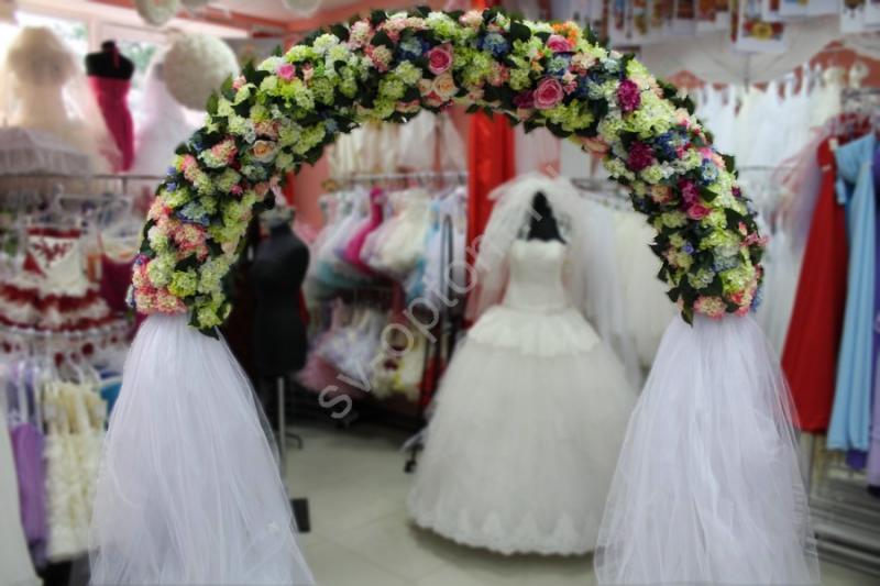 Арка свадебная (гортензии и розы) (разборная на 4 части) арт.094-027