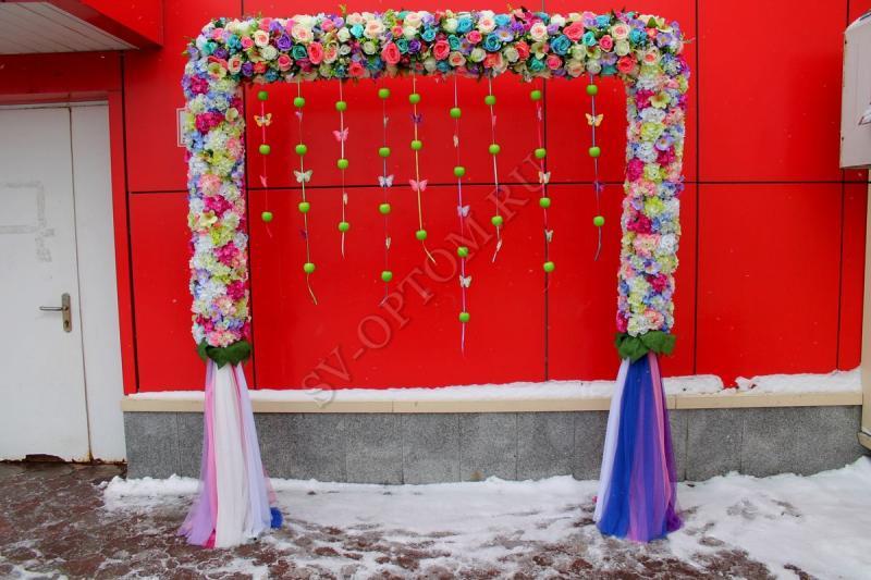 Арка свадебная (разборная на 8 частей) арт. 094-004