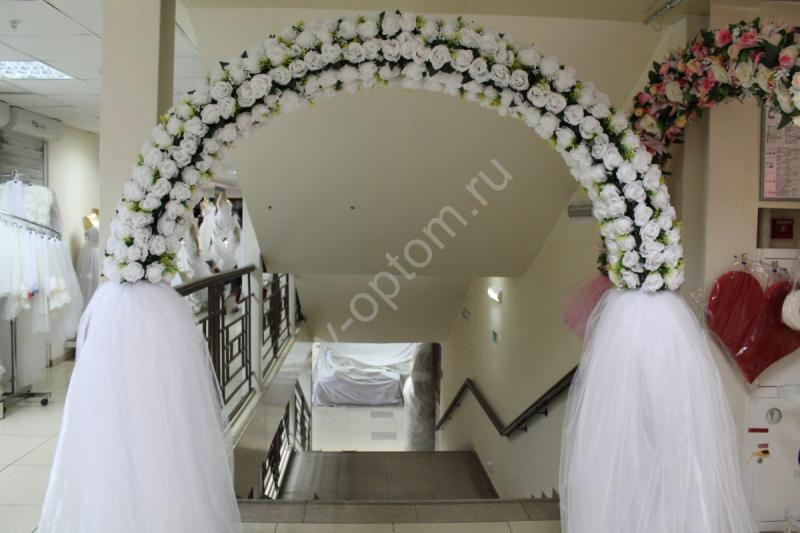 Арка свадебная белая (разборная на 4 части) арт. 094-068
