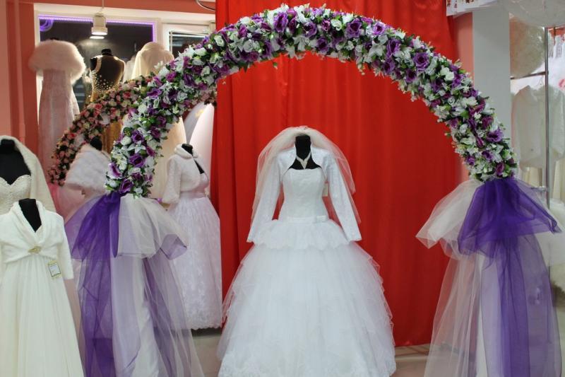 Арка свадебная фиолетовая (разборная на 4 части) арт. 094-031
