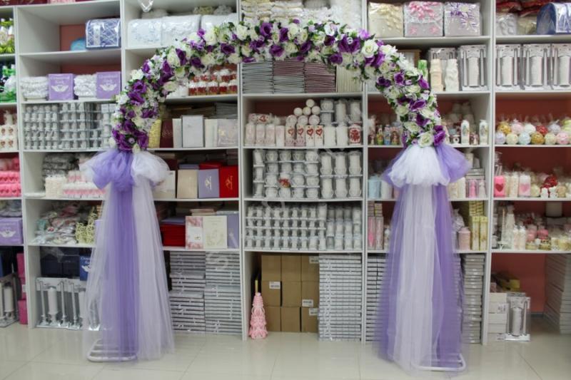 Арка свадебная фиолетовая (разборная на 4 части) арт. 094-036