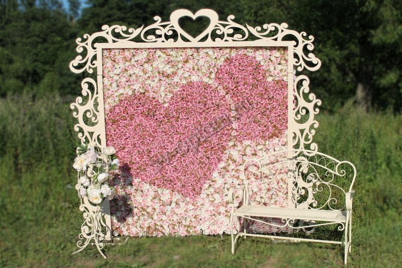 Арка свадебная,+фотозона+скамейка+декоротывная клетка. Цвет айвори  аренда 16000 руб. арт. 001-022