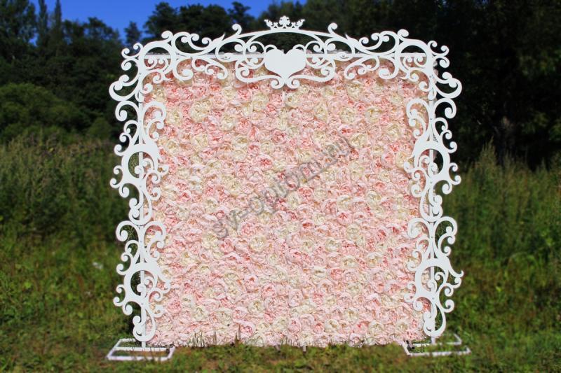 Арка свадебная+фотозона, цвет белый аренда 10000 руб. арт. 001-028