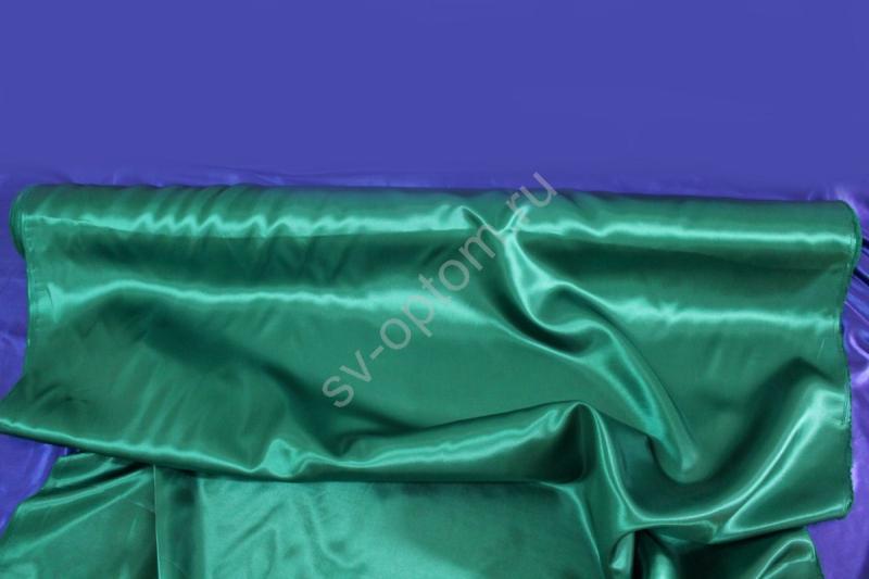 Атлас зеленый длина 100м ширина 150см (хорошее качество!) арт. 143-012