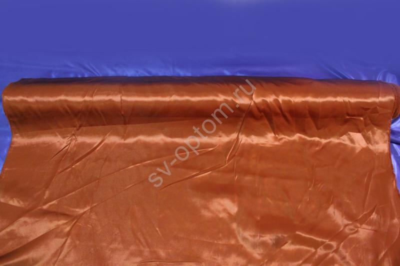 Атлас коричневый длина 100м ширина 150см  (хорошее качество!) арт. 143-011