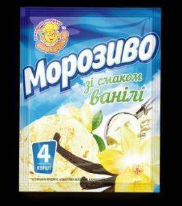 Фото Мороженое Сухая смесь для приготовления ванильного мороженого ,60 г