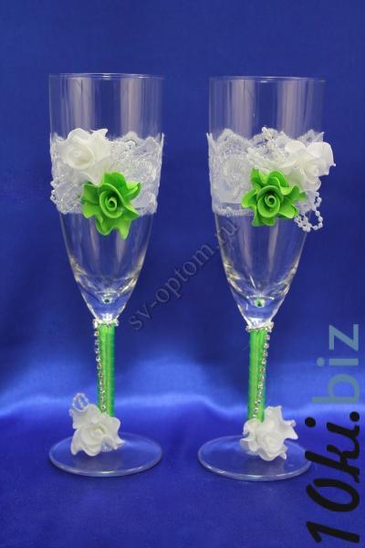 Бокалы цвет: зеленое яблоко арт. 045-003 Свадебные бокалы в России