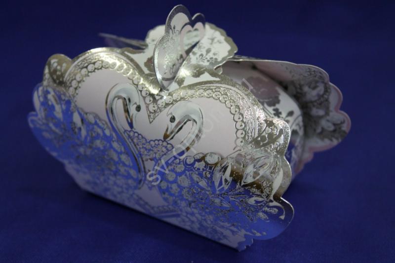 """Бонбоньерка """"Лебеди"""" 7100012 (в упаковке 10 шт) арт. 054-003"""