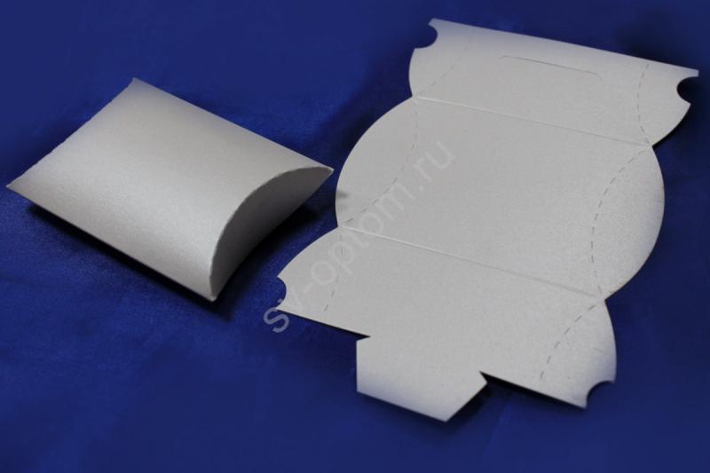 Бонбоньерка (картон, заготовка), белая арт. 054-005