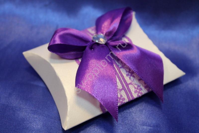 Бонбоньерка ручная работа, фиолетовая арт. 054-008