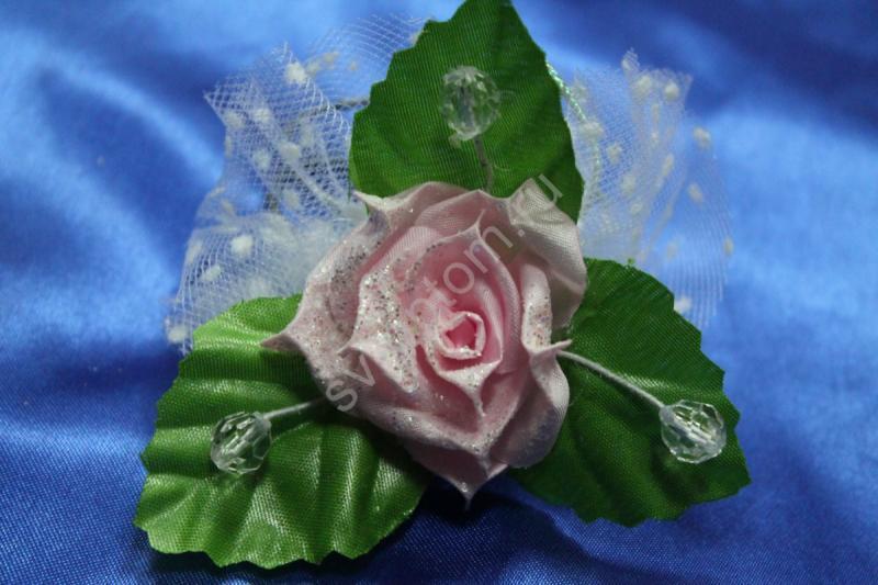 Браслет металлический с розовой розой арт.044-131