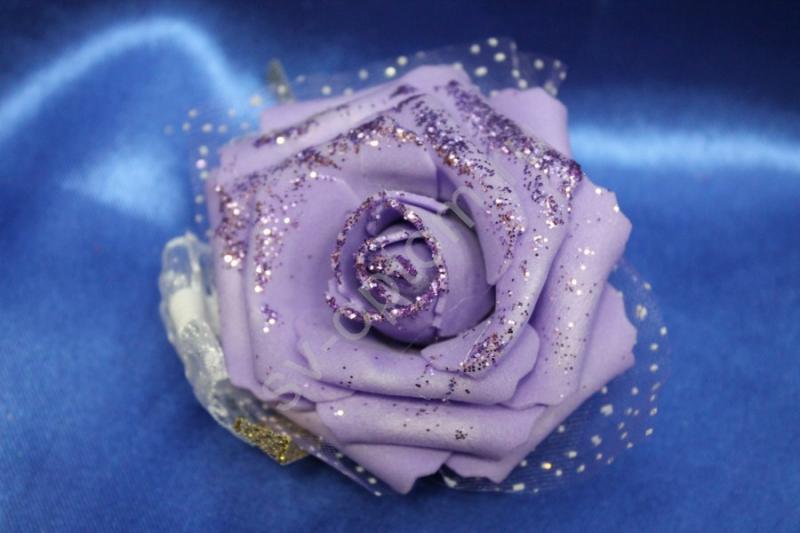 Браслет на резинке фиолетовый арт. 044-101
