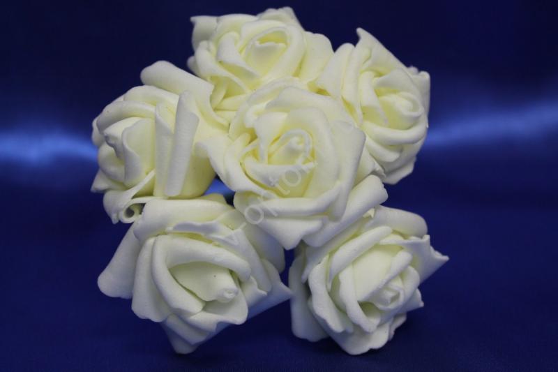 Букет из латексных цветов айвори (1 цветок 40мм) стоимость букета арт.139-079