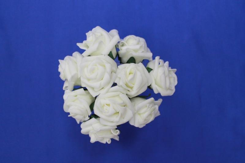 Букет из латексных цветов Айвори(1 цветок 35-40 мм) стоимость букета арт. 139-014