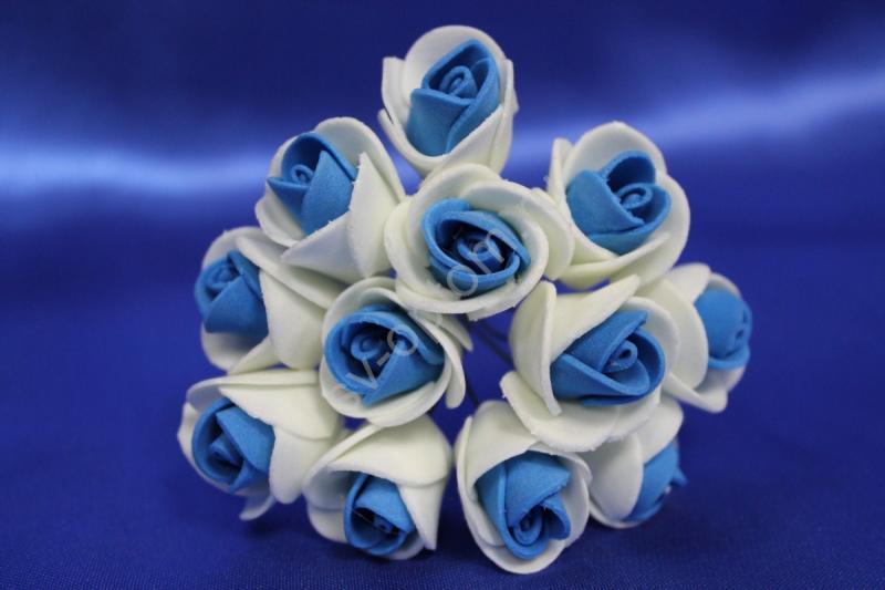 Букет из латексных цветов бело-синий (1 цветок 20мм) стоимость букета арт. 139-074